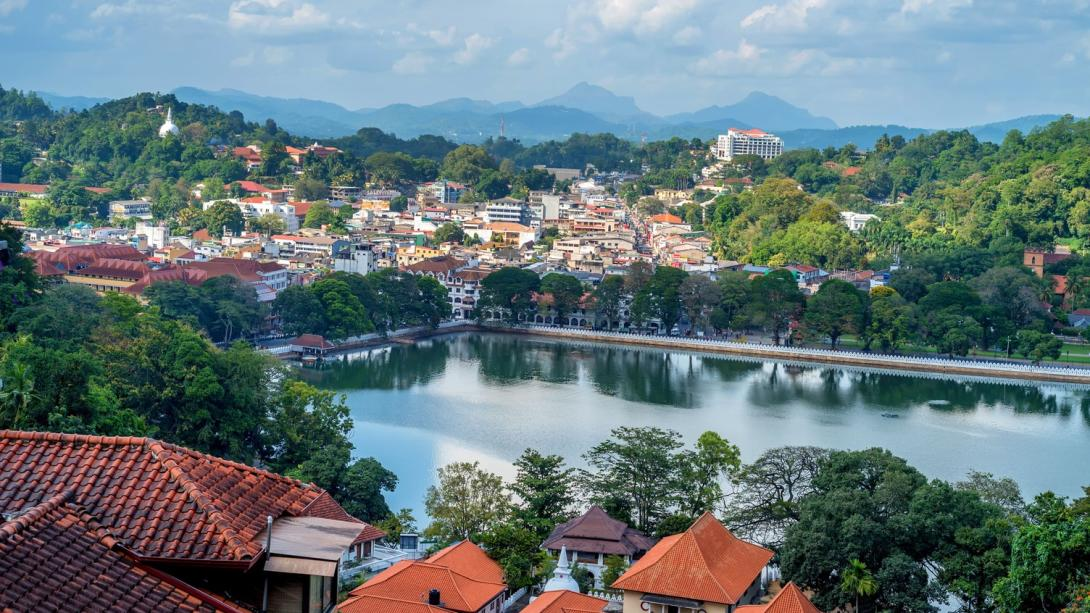 Popular tourist city, Kandy, in Sri Lanka.